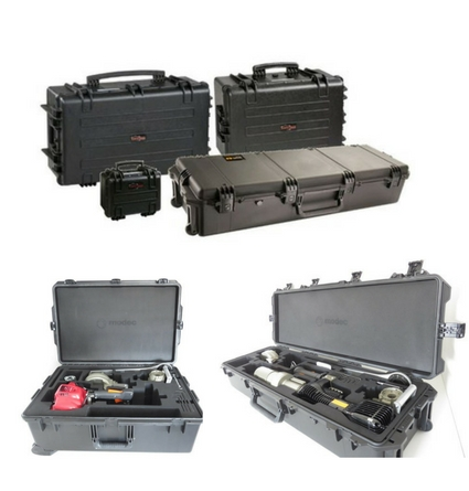 cases to transport portable valve actuators