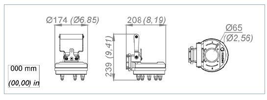 Standard duty layout banjo head for portable valve actuator
