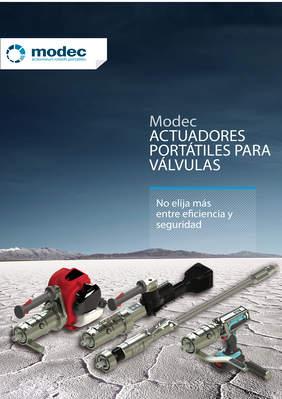 Un catálogo de actuadores rotativos portátiles Modec