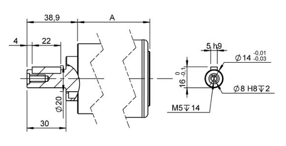 Arbres C25 groupe 3 pour moteur pneumatique