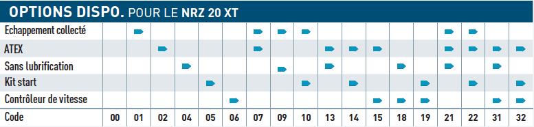 Option disponible pour le moteur pneumatique NRZ20XT