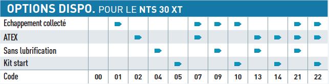 Option disponible pour le moteur pneumatique NTS30XT